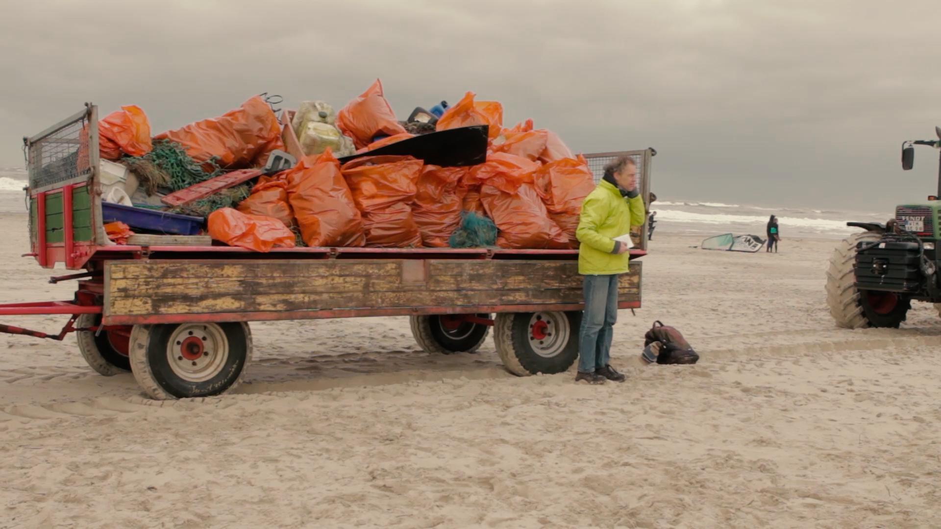 Müllsammeln auf Langeoog